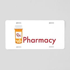 RX Pharmacy Aluminum License Plate