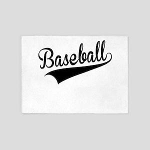 Baseball, Retro, 5'x7'Area Rug