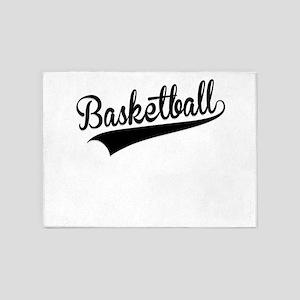 Basketball, Retro, 5'x7'Area Rug