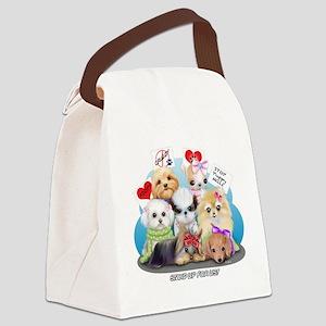 Puppies Manifesto Canvas Lunch Bag