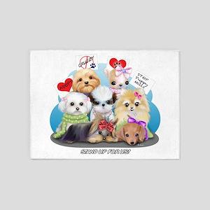 Puppies Manifesto 5'x7'Area Rug