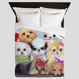 Puppies Manifesto Queen Duvet
