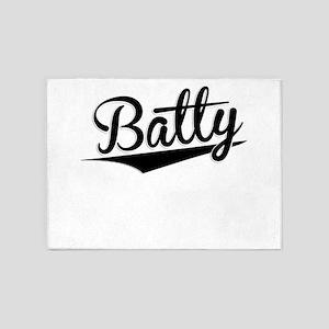 Batty, Retro, 5'x7'Area Rug