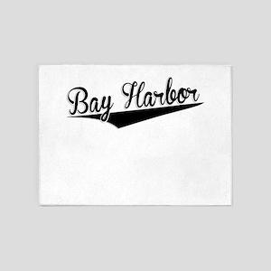 Bay Harbor, Retro, 5'x7'Area Rug