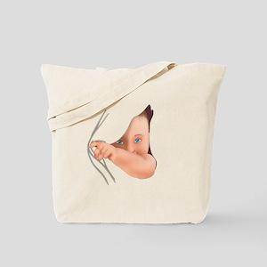 Hide Away Peek A Boo Baby Tote Bag