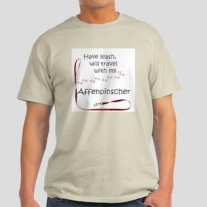 Affenpinscher Travel Leash Light T-Shirt