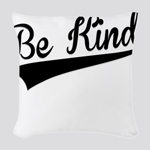 Be Kind, Retro, Woven Throw Pillow
