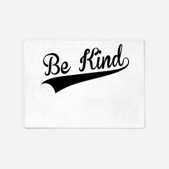 Be Kind, Retro, 5'x7'Area Rug