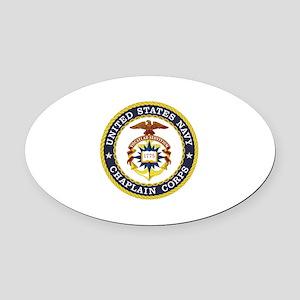 US Navy Chaplain Oval Car Magnet