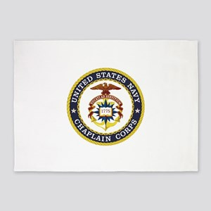 US Navy Chaplain 5'x7'Area Rug