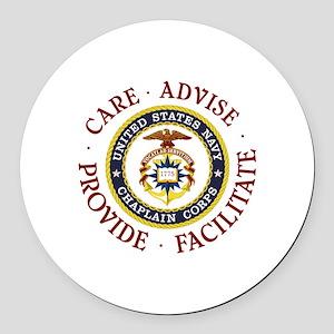 CARE.ADVISE.PROVIDE.FACILITATE Round Car Magnet