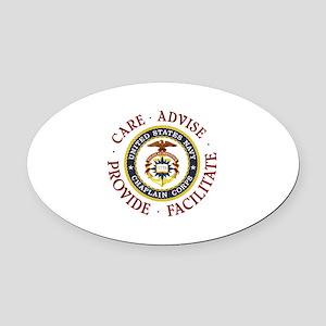 CARE.ADVISE.PROVIDE.FACILITATE Oval Car Magnet