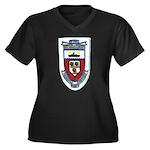USS DONALD B Women's Plus Size V-Neck Dark T-Shirt