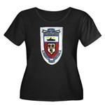 USS DONA Women's Plus Size Scoop Neck Dark T-Shirt