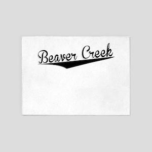 Beaver Creek, Retro, 5'x7'Area Rug