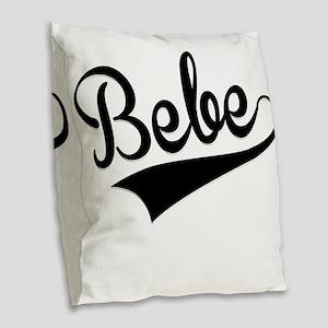 Bebe, Retro, Burlap Throw Pillow