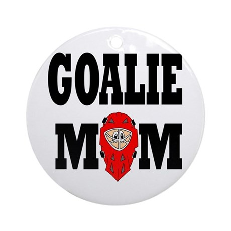 Goalie Mom Ornament (Round)