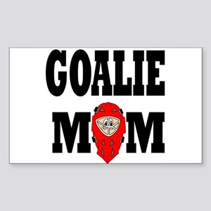 Goalie Mom Rectangle Sticker