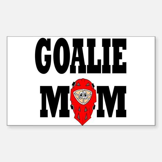 Goalie Mom Rectangle Decal