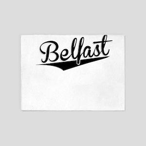 Belfast, Retro, 5'x7'Area Rug