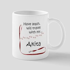 Akita Travel Leash Mug