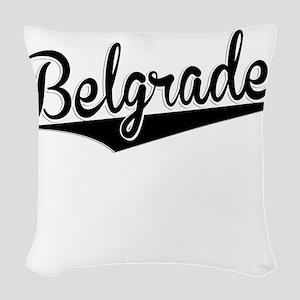Belgrade, Retro, Woven Throw Pillow