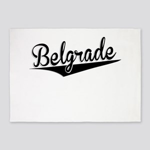 Belgrade, Retro, 5'x7'Area Rug