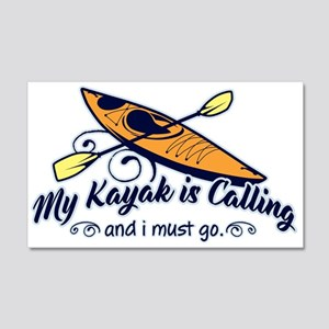 My Kayak Is Calling 20x12 Wall Decal