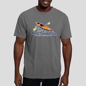My Kayak Is Calling Mens Comfort Colors Shirt