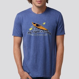 My Kayak Is Calling Mens Tri-blend T-Shirt