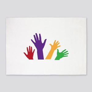 Raised Hands 5'x7'Area Rug