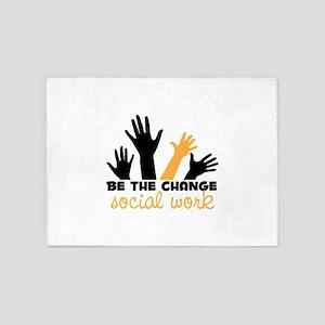 BeThe Change 5'x7'Area Rug