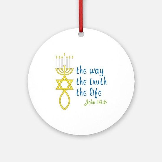John 14:6 Round Ornament