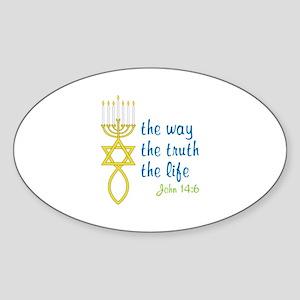 John 14:6 Sticker (Oval)