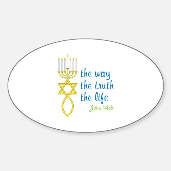 John 14:6 Sticker (Oval)
