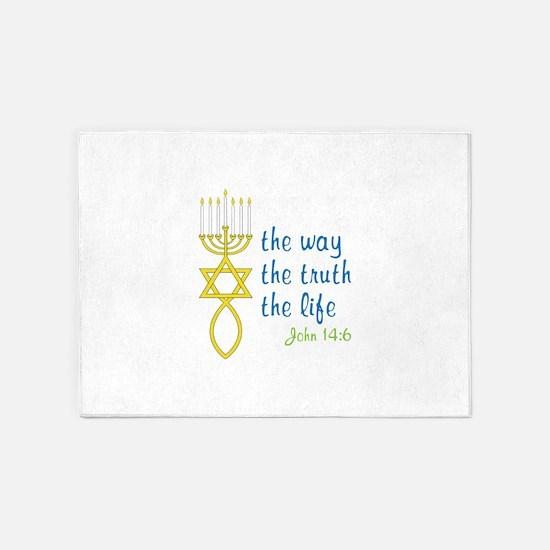 John 14:6 5'x7'Area Rug