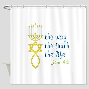 John 14:6 Shower Curtain