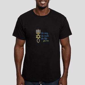 John 14:6 Men's Fitted T-Shirt (dark)