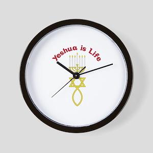 Yeshua is Life Wall Clock