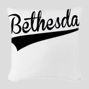 Bethesda, Retro, Woven Throw Pillow