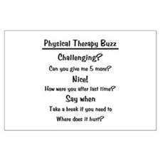 Physical Therapy Buzz Large Poster