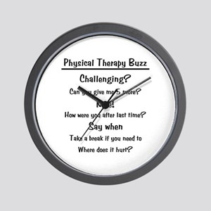 Physical Therapy Buzz Wall Clock