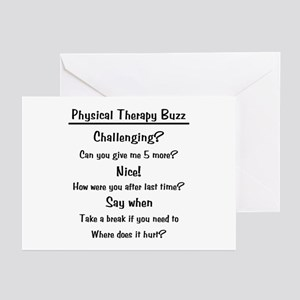 Physical Therapy Buzz Greeting Cards (Pk of 10