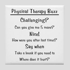 Physical Therapy Buzz Tile Coaster