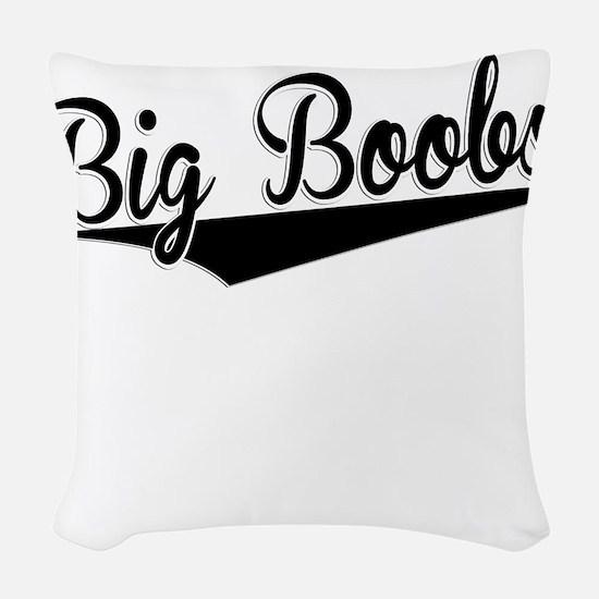 Big Boobs, Retro, Woven Throw Pillow