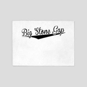 Big Stone Gap, Retro, 5'x7'Area Rug