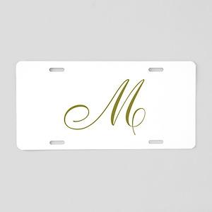 Elegant Monogrammed Aluminum License Plate