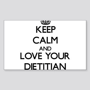 Keep Calm and Love your Dietitian Sticker