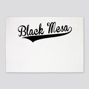 Black Mesa, Retro, 5'x7'Area Rug