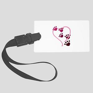 Dog Paws Luggage Tag